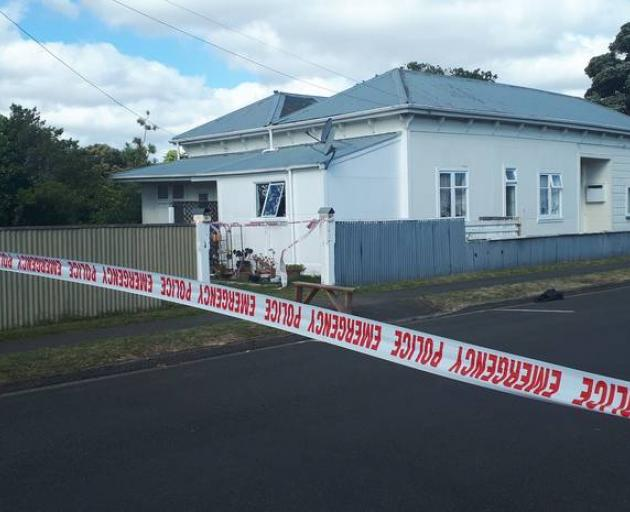 A house on the corner of Wicksteed and Liverpool Streets was cordoned off this morning. Photo:...