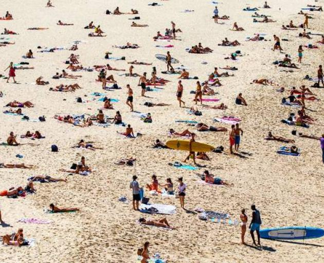 Bondi Beach in Sydney had to be closed to stop mass gatherings. Photo: Getty Images