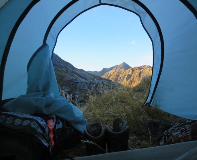 The view of the Valley of the Trolls from our tent. Photo: Alina Suchanski