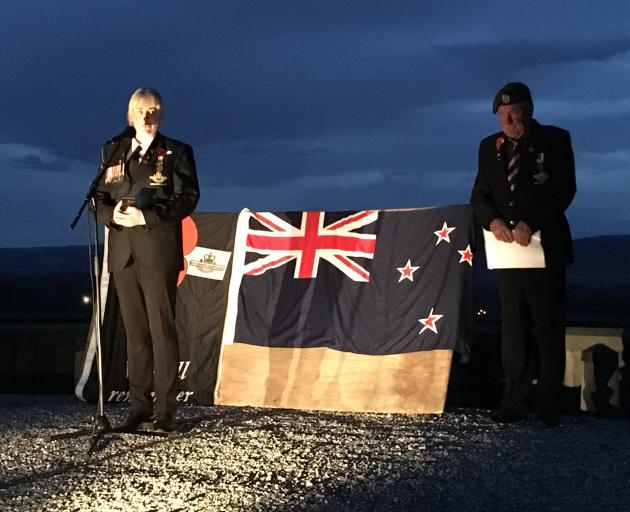 In Central Otago district, several hundred gathered for a dawn service at the Clyde lookout...
