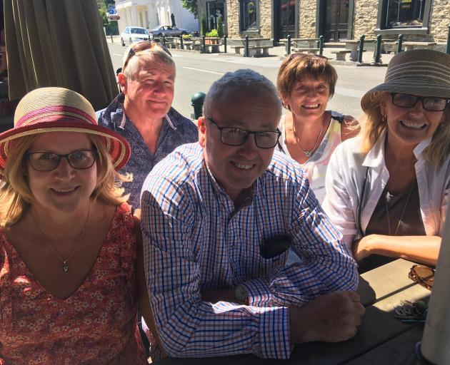 Invercargill visitors (from left) Leanne Clark, Gus Clark, Jim Clark, Juliette Clark and Donna...