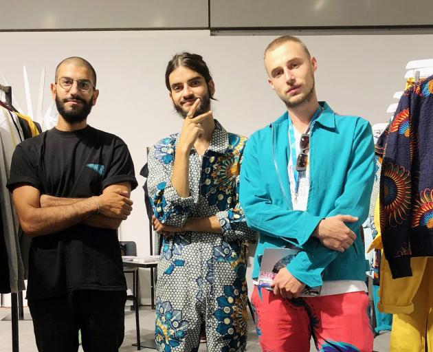 Douglas Bendennoone (left), of Gouache, a streetwear brand, and Ethan Fellous  (centre) and Simon...