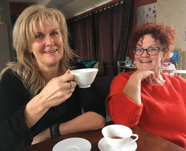 Clyde friends Carolyn Laing (left) and Debbie Paton look forward to seeing their joint creation...