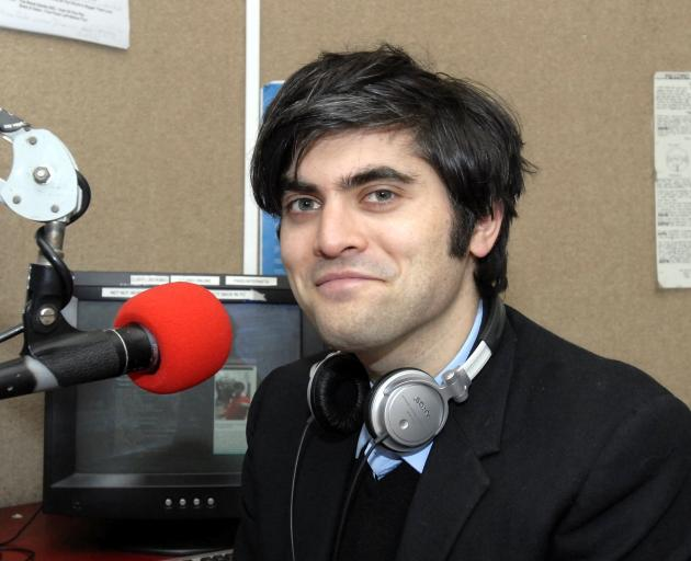 The young mayoral candidate in 2010 at his day job as a Radio  One host. PHOTO: ODT FILES