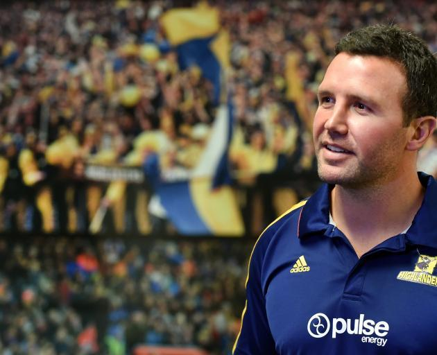 Aaron Mauger was appointed Highlanders coach on a three-year deal in August 2017. Photo: Peter...