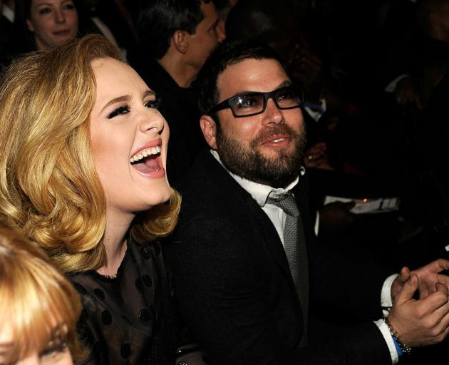Adele with Simon Konecki. Photo: Getty Images