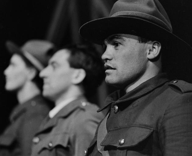 Warren Alcock playing Hone Brown in John Broughton's play ANZAC. Photo: Gerard O'Brien