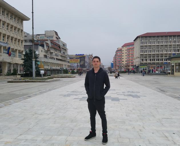 Andrei in his hometown of Targoviste, Romania, when he went to find his birth parents. Photo:...