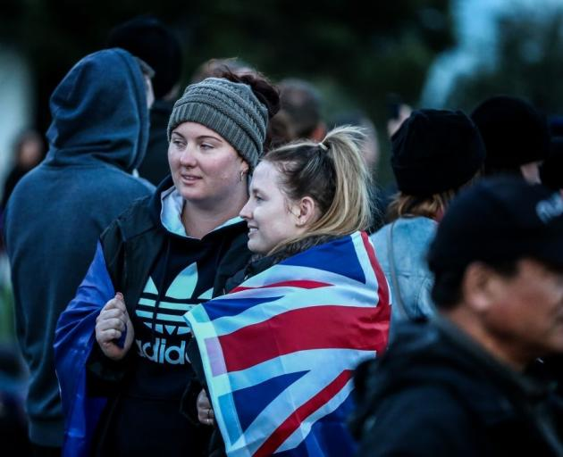 Australian and New Zealanders at the dawn service at Anzac Cove in Gallipoli last year.  Photo:...