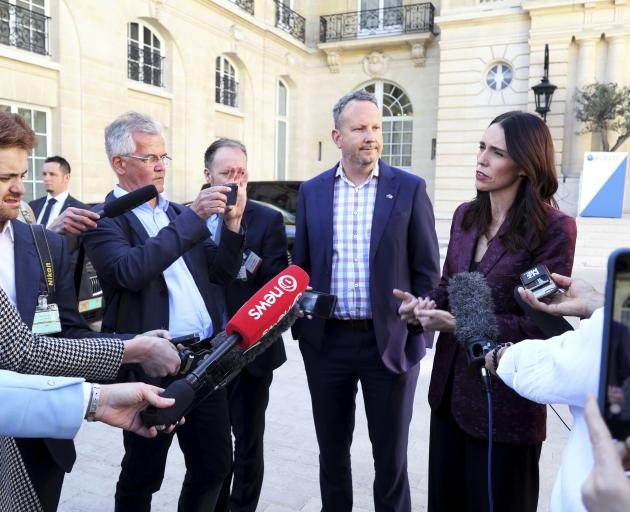 Jacinda Ardern (right) said she looked forward to a long-term collaboration to make social media...