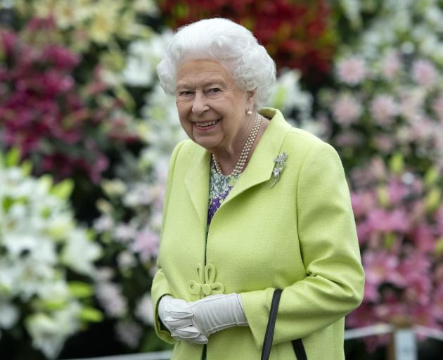 The Queen visited the annual flower show on Monday. Photo: AP