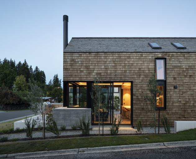 The architects say that smaller homes are becoming more popular in Wanaka due to smaller sections...