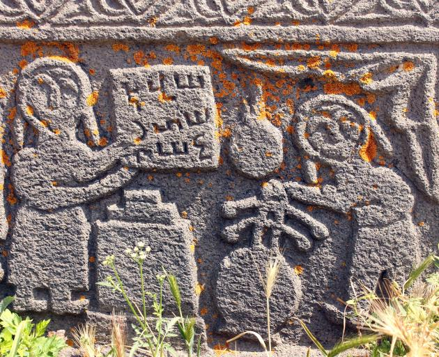 Armenia's medieval churches are richly decorated with stone-carvings.