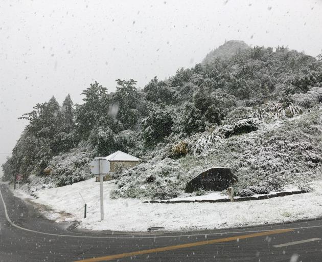 Snow in Arrowtown. Photo: Emma McDermott