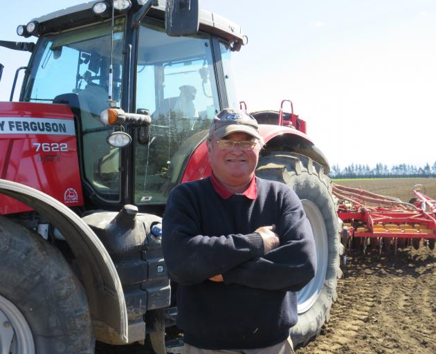 Massey collector Anthony Hampton has been sowing Viceroy wheat on-farm in preparation for the...
