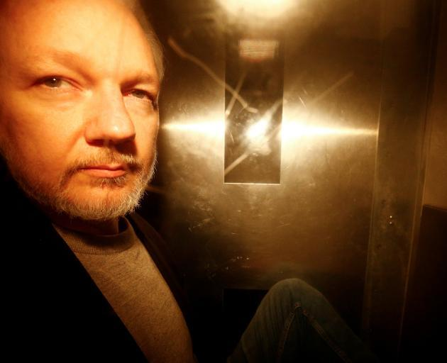 Julian is currently serving a 50-week sentence in a British prison for breaching bail. Photo:...