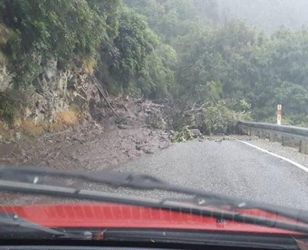 Glenorchy Road near Bob's Cove. Photo: Supplied by Irahaira