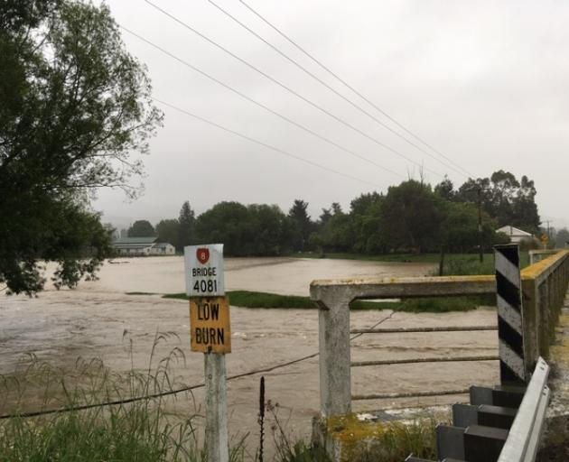 A swollen river in Beaumont. Photo: Louise Scott