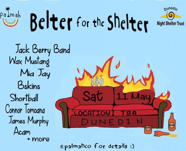 Palmah's Belter for Shelter gig at a secret location.