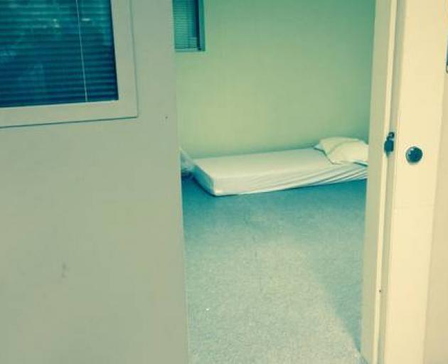 An example of a standard seclusion room at a government run mental health facility. A patient at...