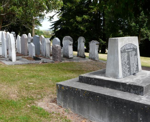 The 1879 mine explosion memorial site in Kaitangata, marking the 34 lives lost. Photo: Richard Davison
