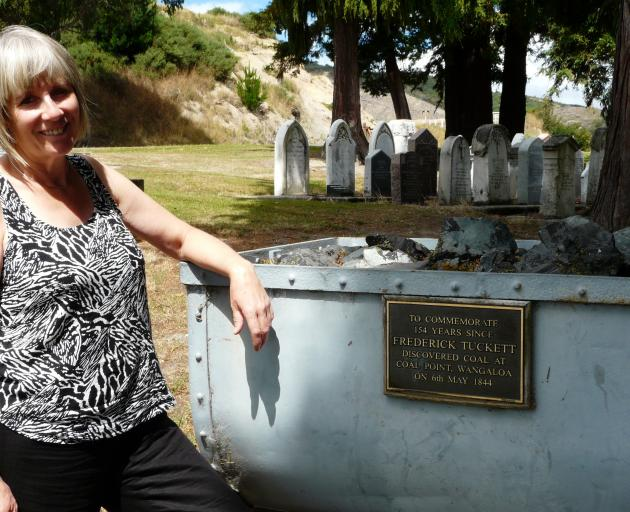 Kaitangata playwright and historian  Denise Dent inspects the town's 1879 mine  explosion and heritage site.
