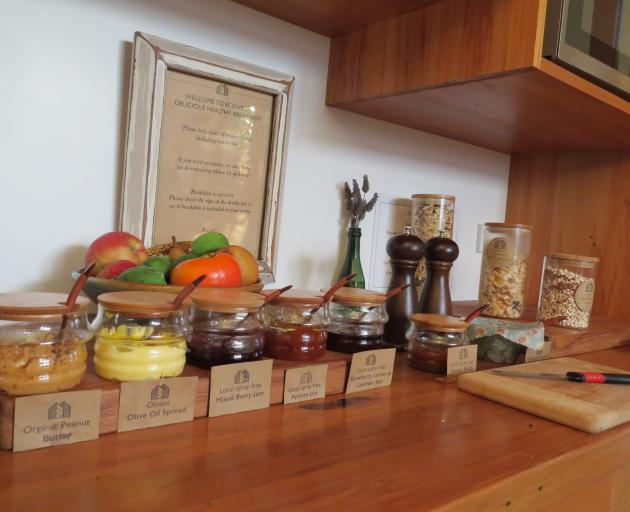 The kitchen is full of tempting jars and containers.