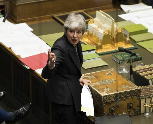 Theresa May's longshot plan is to hold a third vote in Parliament on her deal next week, then use...