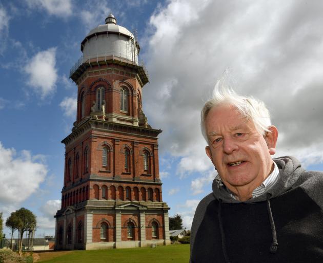 Retired policeman Bruce Smart, pictured at Invercargill's landmark water tower, still lives in...