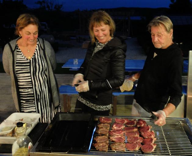Lois, Toni and Val Croon cooking up a storm at Admiralty Gardens. PHOTO: DAVID THOMSON