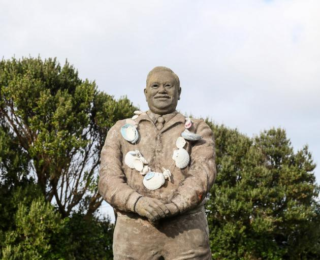 Tame Horomana Rehe (Tommy Solomon) Memorial Statue. PHOTO: SIMON WATTS/BWMEDIA
