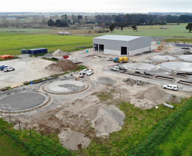 The Pioneer Energy-Ecostock Supplies Ltd bio-energy facility under construction at Reporoa in the...