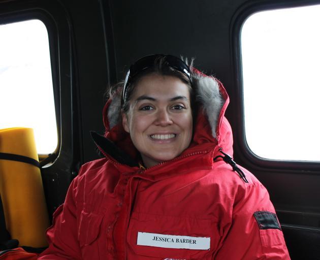 Otago Museum science engagement co-ordinator Jessa Barder travels in an all-terrain amphibious...