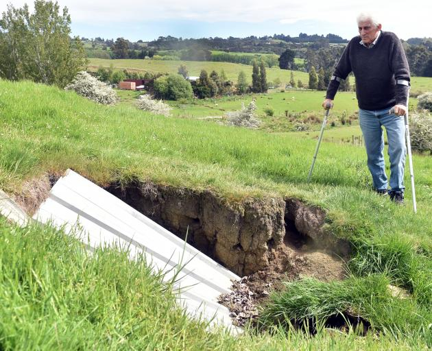 Fairfield resident Graeme Duthie discovered a tunnel a few years ago while driving his tractor up...