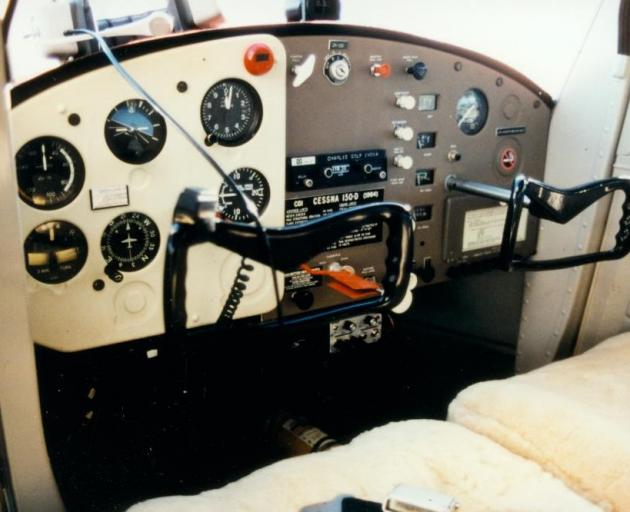 The interior of the Cessna 150 ZK-CGI which Robert Bakhuis, a trainee pilot, stole, flew to...