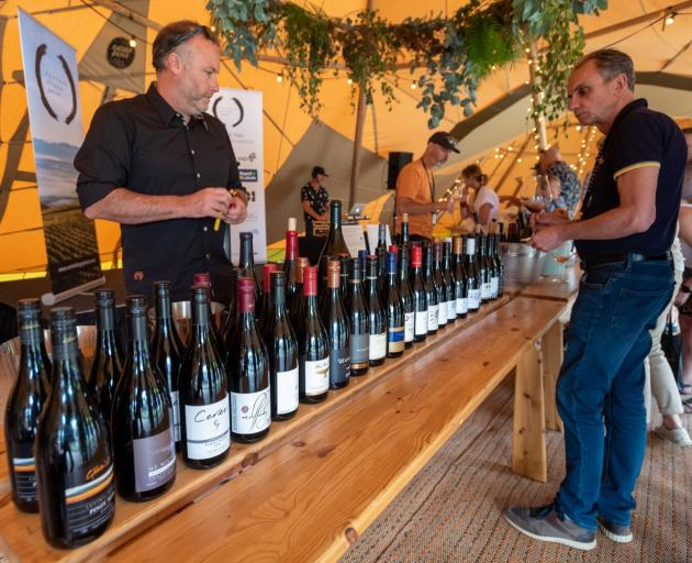 Prophet's Rock winemaker/owner Paul Pujol (left) and Francois Millet, who collaborates with Pujol...