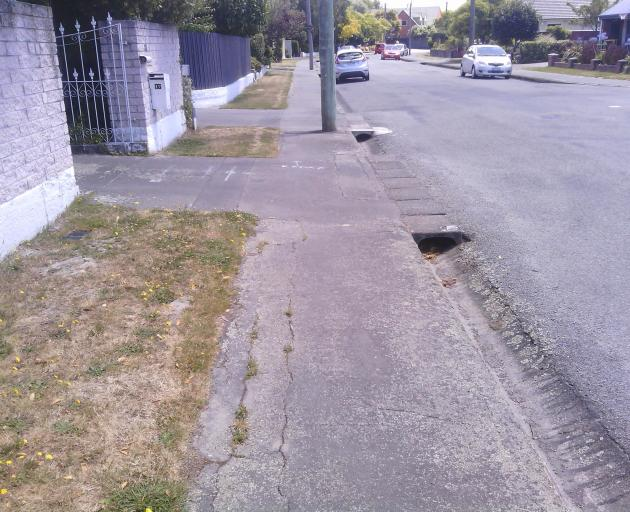 """The city council has made its own assessments and decided Ryeland Ave """"clearly has cracks"""". Photo..."""