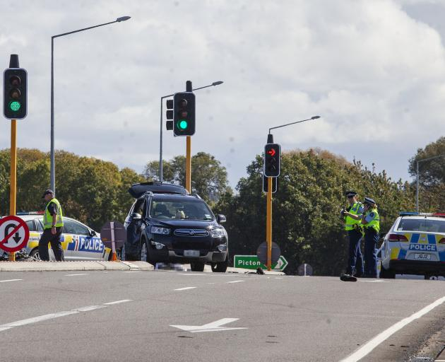The scene of the serious crash on Lineside Rd, Kaiapoi. Photo: Geoff Sloan