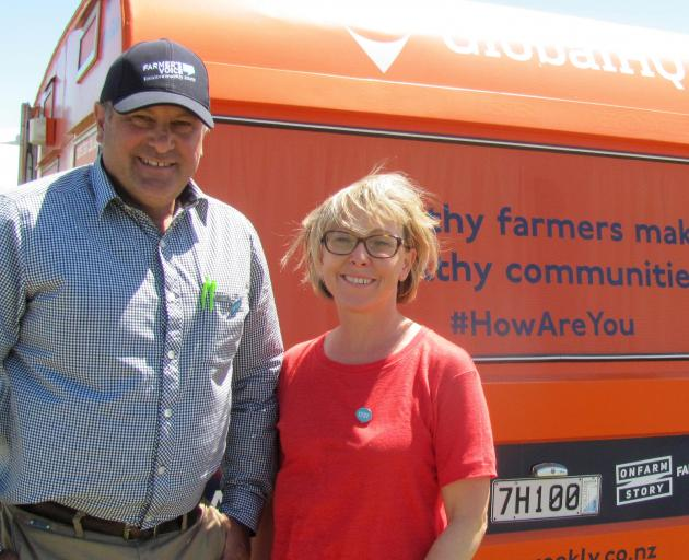 Rural advocate Craig Wiggins and Dr Sue Fowlie, of Rakaia Medical Centre, taking healthcare to...
