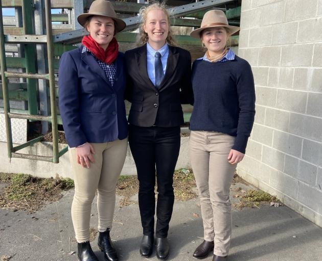 The Tasman team of Joanna Hoogenboom (left), Alice Partridge and Molly Donald was thrilled to win...