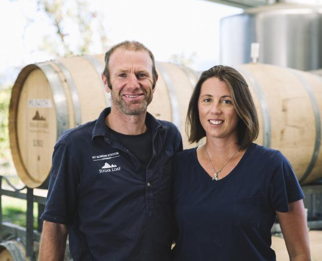 Kate Acland with husband David. Photo: Supplied