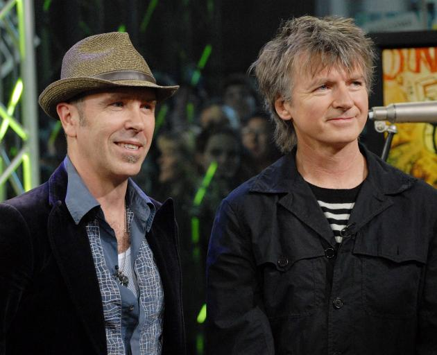 Crowded House original band members Nick Seymour and Neil Finn. Photo: Getty Images