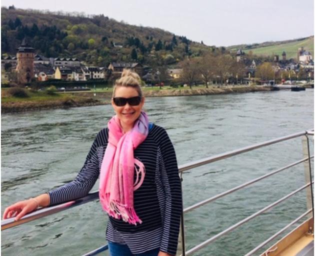 Jess (Alexandra) cruising the Rhine.
