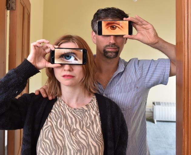 Matthew and Benedikte Onarheim-Smith rehearse for their upcoming Fringe Festival piece.  PHOTO:...
