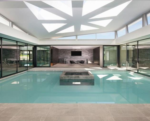 One of the homes Darryll Park is selling includes a indoor pool.