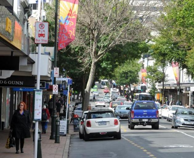 Money would pay for upgrades and renewals of roads, footpaths and streetscapes in four areas including George St. Photo: ODT files