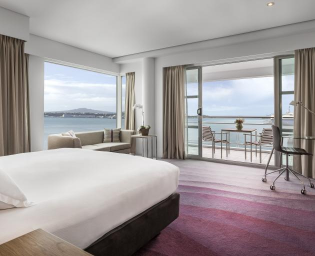 The view from the Hilton Auckland over the harbour. Photo: Supplied