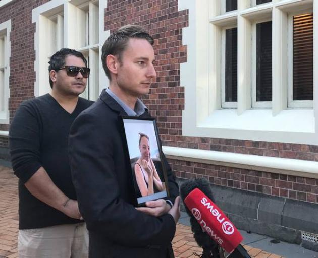 Deon Johnson-Hadley talks to media outside the Auckland High Court after the court appearance of the alleged murderer of his mother, Tania Maree Hadley. Photo / File via NZ Herald