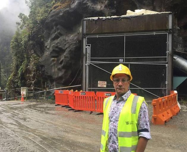 Dinghy Pattinson, the chief operating officer of the Pike River Recovery Agency, stands outside...