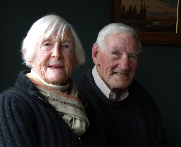 Former Tarras farmers Bill and Frances Gibson, of Malvern Downs. Photo: Mark Price